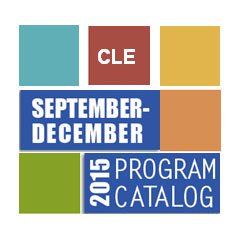 CLE Catalog Fall 2015