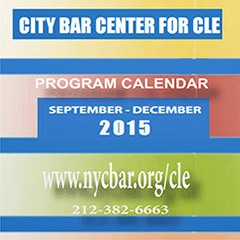 Fall 2015 CLE program calendar