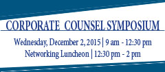 Corporate Counsel Symposium 2015